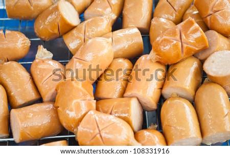 Cocktail sausage - stock photo