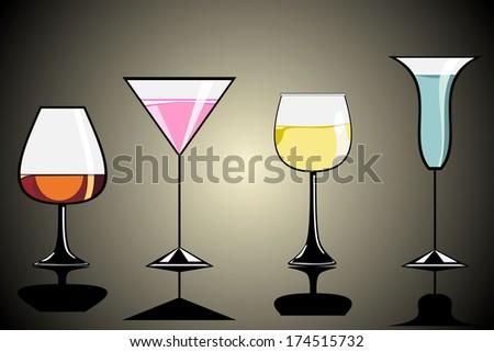 Cocktail set - stock photo