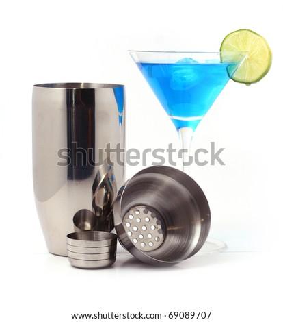 Cocktail & Shaker - stock photo