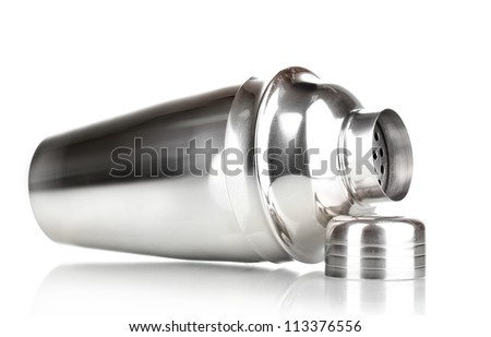 Cocktail shaker isolated on white - stock photo