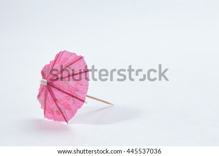 Cocktail Umbrella isolated  - stock photo