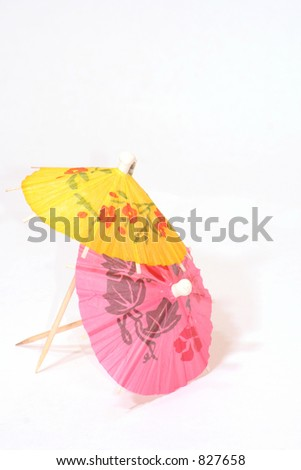 Cocktail Umbrellas - stock photo