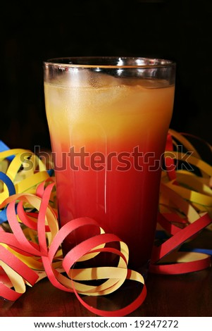 Cocktail with blow-out - stock photo