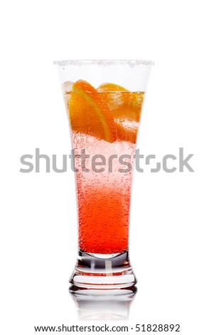 Cocktail with lemons - stock photo
