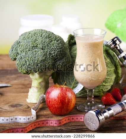 Cocktails with fresh fruits, Vitamin and Fitness  - stock photo