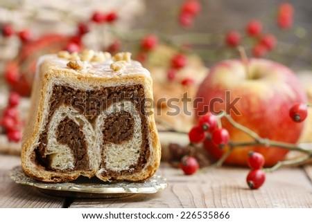 Cocoa cake - stock photo