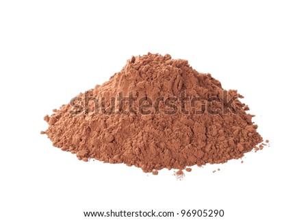 cocoa pile - stock photo