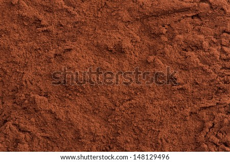 Cocoa powder top close-up background - stock photo