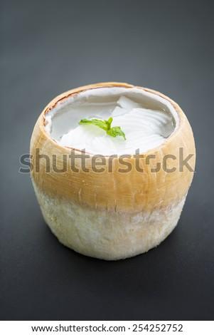 coconut agar, asian dessert - stock photo
