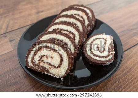Coconut and Chocolate Rolls - stock photo