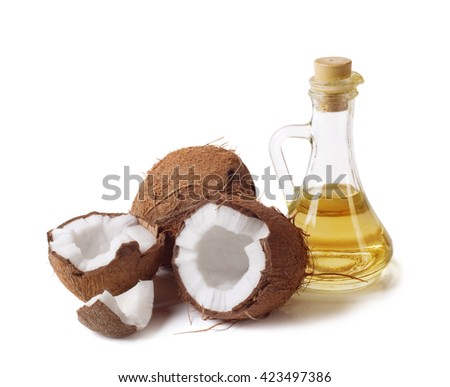 coconut and oil - stock photo