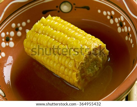 Coconut Curried Corn - Galey iyo Qumbo.appetizer in Somalia. African cuisine