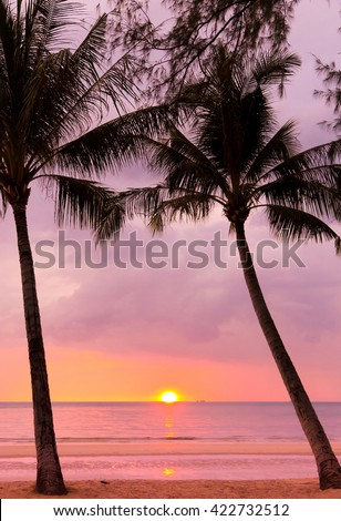 Coconut Horizon Bay View  - stock photo