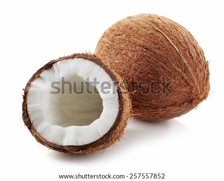 coconut isolated on a white background - stock photo