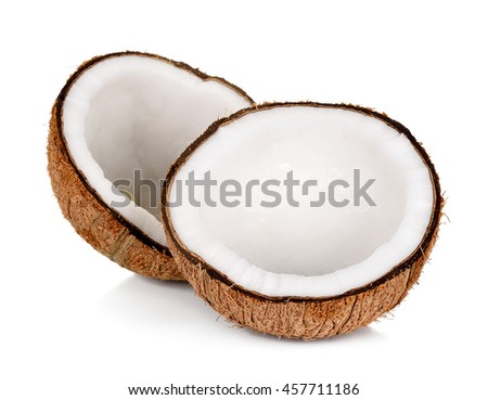 coconut isolated on the white background .