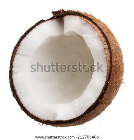 Coconut isolated on white background. - stock photo