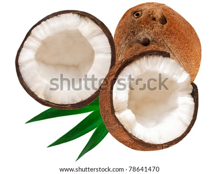 coconut isolated on white background