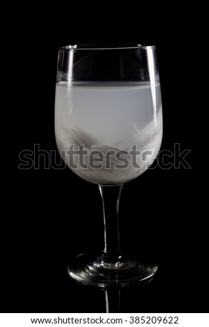 Coconut juice on white background.