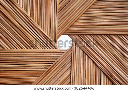 coconut leaves basketry - stock photo