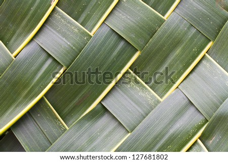Coconut leaves woven background - stock photo