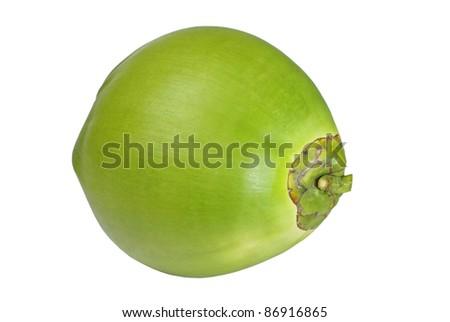 Coconut on white background, Isolated - stock photo