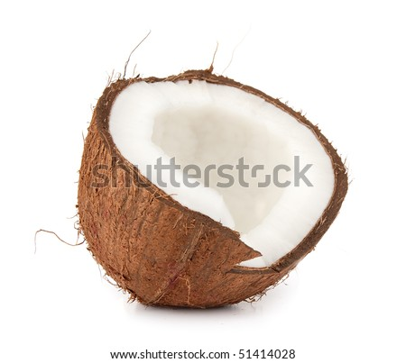 Coconut over white background - stock photo