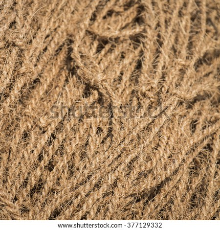 Coconut rope texture as a background - stock photo