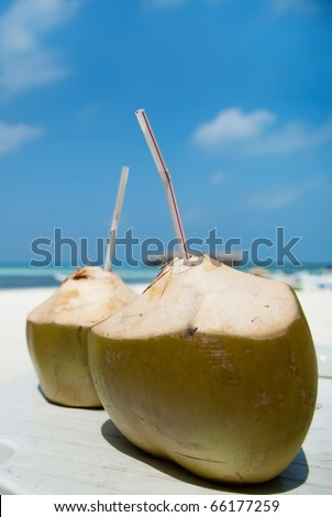 Coconut Water Drink - stock photo