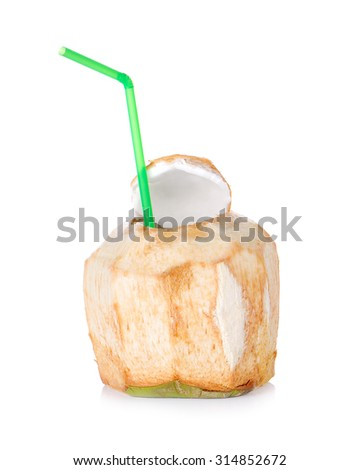Coconut Water Drink on white background