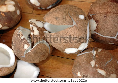 coconuts without shell - stock photo