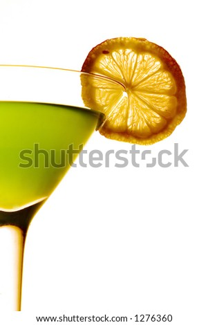 Coctail over white background - stock photo