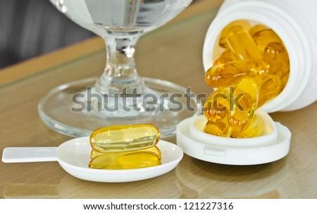 Cod liver oil for health. - stock photo