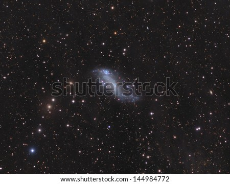 Coddington's Nebula - A dwarf galaxy about 12 million light years away in the constellation Ursa Major - stock photo