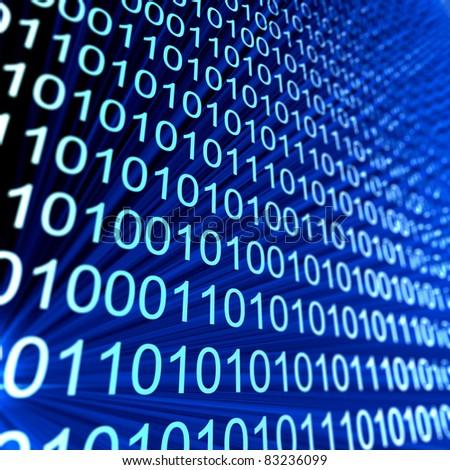 Code numbers. Computer data coding - stock photo