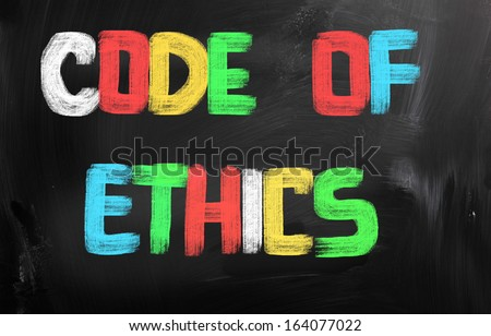 Code Of Ethics Concept - stock photo