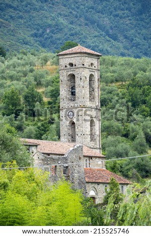Codiponte (Massa e Carrara, Tuscany, Italy), old village in Lunigiana: the medieval church of Saints Cornelio and Cipriano, built in 12th century
