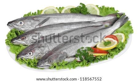 Cods on salad - stock photo