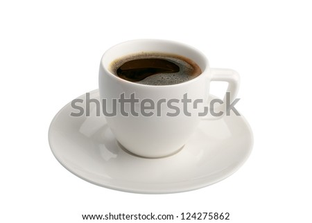 cofee cup isolated on white background with clipping path - stock photo