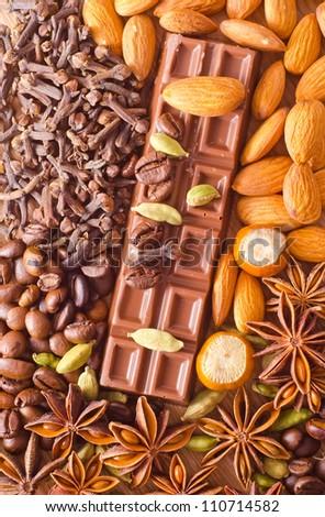 coffe and chocolate - stock photo