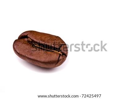 Coffe bean isolated on white background - stock photo