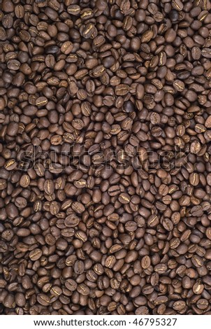 Coffe beans background - stock photo