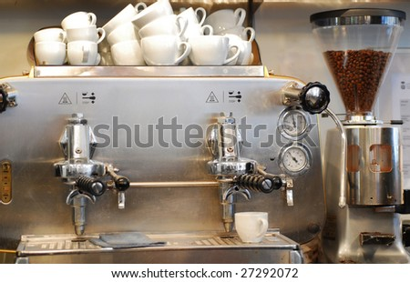Coffe machine - stock photo