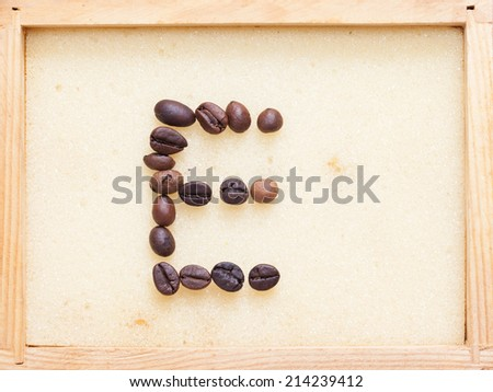 Coffee Alphabet isolated on white - stock photo