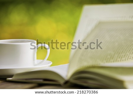 Coffee and Book - stock photo