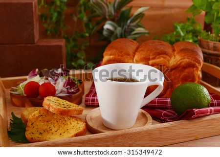 Coffee and breads