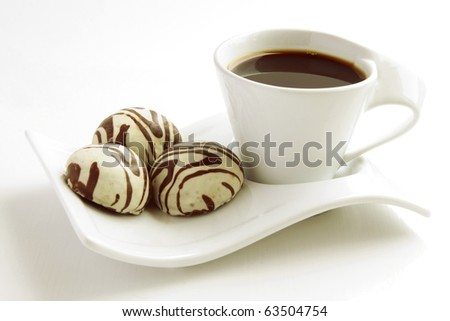 coffee and cakes - stock photo