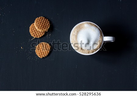 coffee and dutch waffle