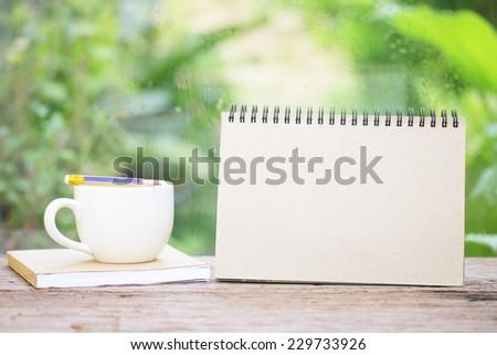 Coffee and Empty calendar - stock photo