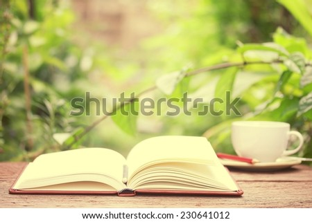 Coffee and Notebook - stock photo