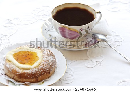 Coffee and pastry - stock photo